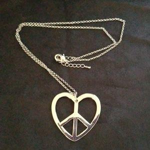 Peace Heart Necklace